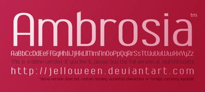 Free San Serif Fonts - Ambrosia