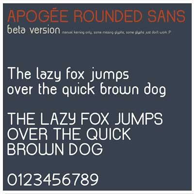 Free San Serif Fonts - Apogee Rounded Sans Beta
