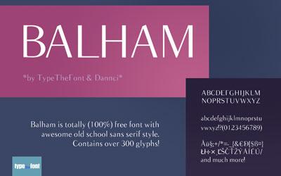 Free San Serif Fonts - Balham