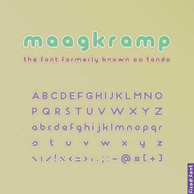 Free San Serif Fonts - Maagkramp
