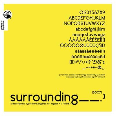 Free San Serif Fonts - Surrounding