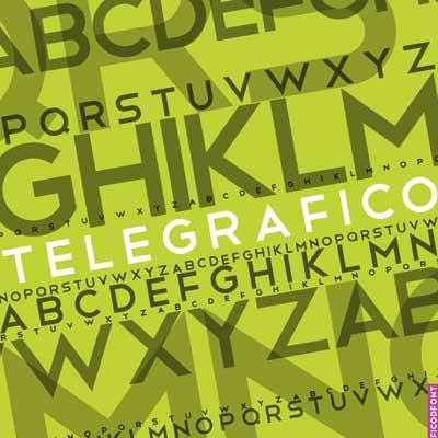 Free San Serif Fonts - Telegrafico