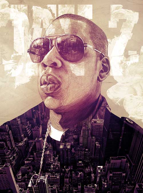 Beautiful Illustrations by Alberto Russo - Jay-Z