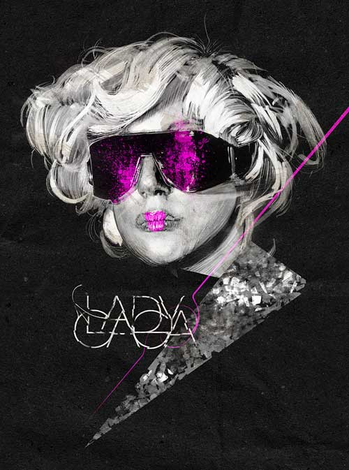 Beautiful Illustrations by Alberto Russo - Lady Gaga