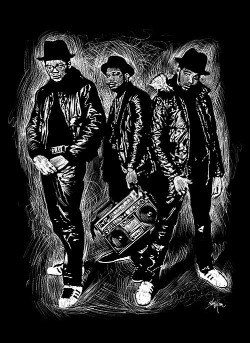 Beautiful Illustrations by Alberto Russo - Run-DMC