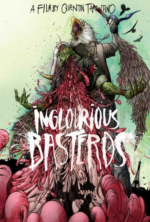 Inglourious Basterds Movie Poster Arts by Alex Pardee