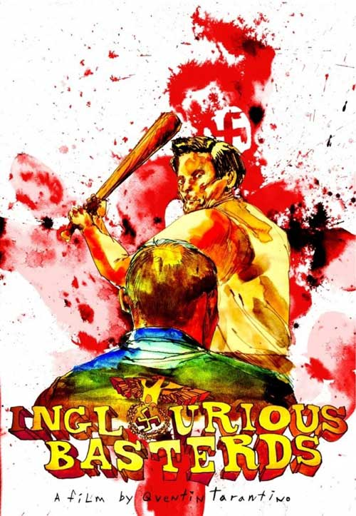 Inglourious Basterds Movie Poster Arts by David Choe