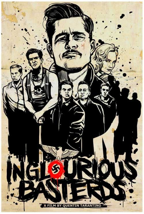 Inglourious Basterds Movie Poster Arts by Munk One