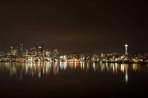 Low Light and Night Photography - The Space Needle and City at Night