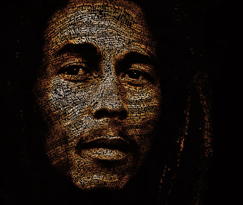 Typefaces Typography Portraits - Mr. Marley by Cris Wicks