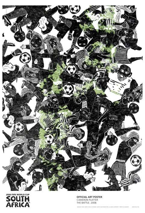 FIFA World Cup 2010 Official Art Posters - The Battle by Cameron Platter