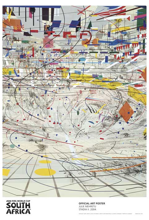 FIFA World Cup 2010 Official Art Posters - Stadia by Julie Mehretu