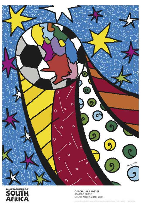 FIFA World Cup 2010 Official Art Posters - South Africa 2010 by Romero Britto