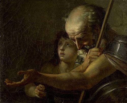 Antique Oil Paintings - Jacques Louis David