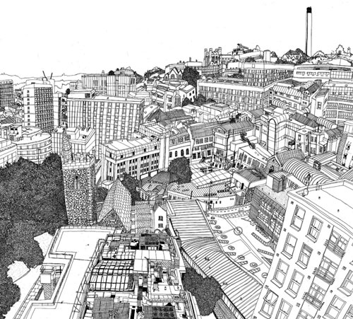 Creative Cityscape Illustrations by Laura Barnard