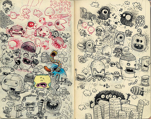 Creative Examples of Doodle Art - Jim Bradshaw 2