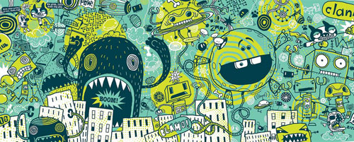 Creative Examples of Doodle Art - Jim Bradshaw 3