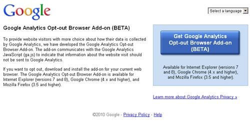 How to Disable Google Analytics?