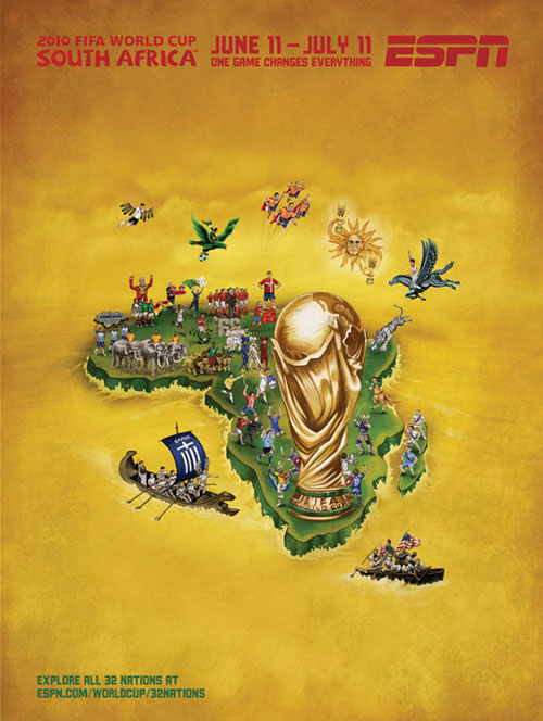FIFA World Cup 2010 Mural Designs - All Nations
