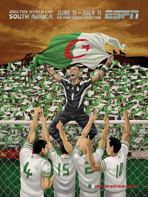 FIFA World Cup 2010 Mural Designs - Algeria