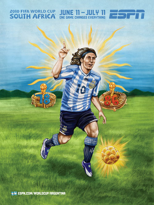 FIFA World Cup 2010 Mural Designs - Argentina
