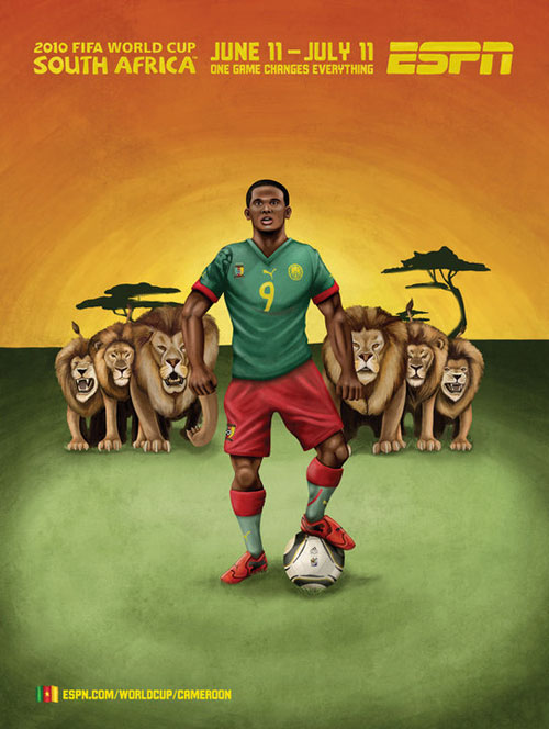 FIFA World Cup 2010 Mural Designs - Cameroon