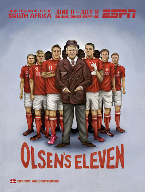 FIFA World Cup 2010 Mural Designs - Denmark