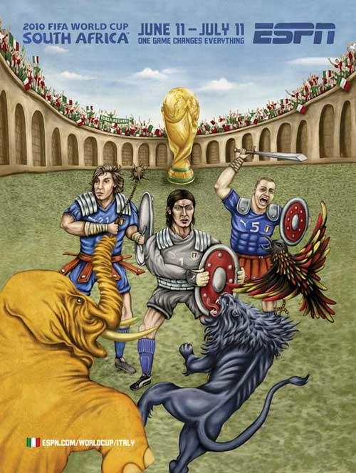FIFA World Cup 2010 Mural Designs - Italy