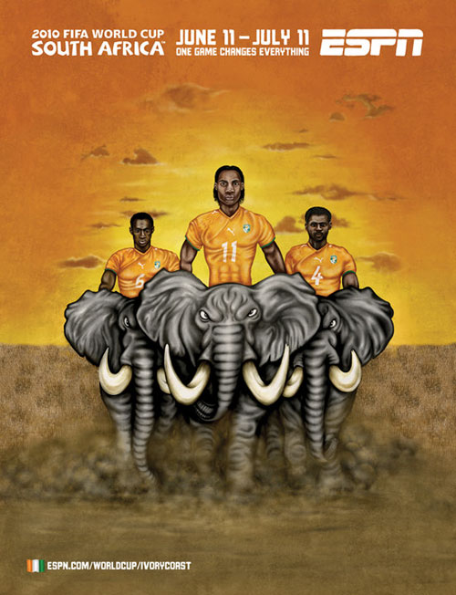 FIFA World Cup 2010 Mural Designs - Ivory Coast