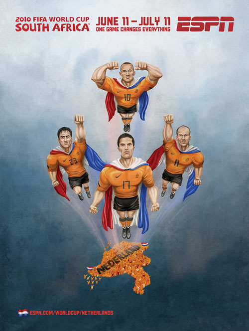 FIFA World Cup 2010 Mural Designs - Netherlands
