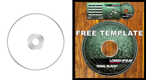 Free PSD Templates for Product Packaging Design - CD/DVD PSD Template
