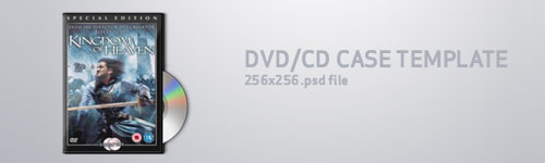 Free PSD Templates for Product Packaging Design - Jewel DVD Icon PSD Template