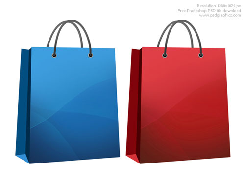 Free PSD Templates for Product Packaging Design - Shopping Bag PSD Template