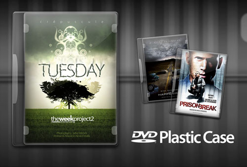 Free PSD Templates for Product Packaging Design - DVD Plastic Case PSD Template
