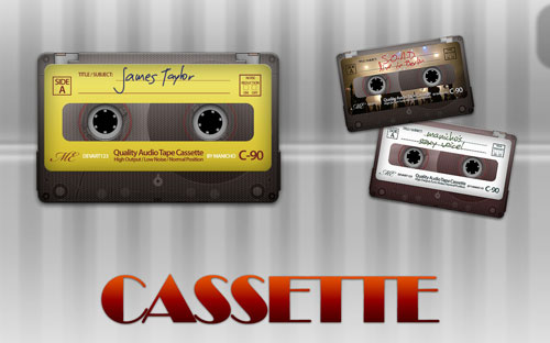 Free PSD Templates for Product Packaging Design - Cassette PSD Template