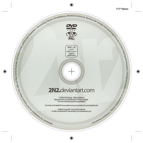 Free PSD Templates for Product Packaging Design - DVD Label PSD Template
