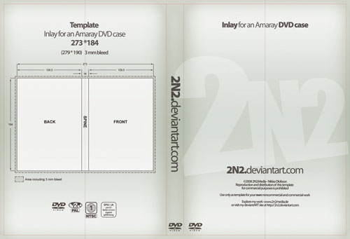 Free PSD Templates for Product Packaging Design - DVD Case Inlay PSD Template