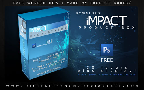 Free PSD Templates for Product Packaging Design - Product Box PSD Template