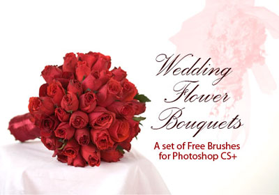 Free Wedding Theme Photoshop Brushes by PhotoshopFreeBrushes