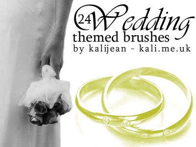 Free Wedding Theme Photoshop Brushes by Kalijean
