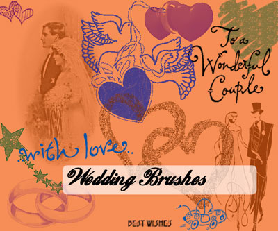 Free Wedding Theme Photoshop Brushes by Portagayola