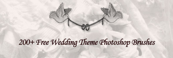 200+ Beautiful Wedding Theme Photoshop Brushes