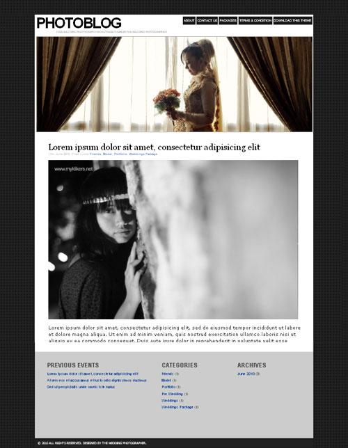 (Freebies) WordPress Theme for Wedding Photographer