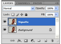 How to Create Vignette Effect in Photoshop - Step 2