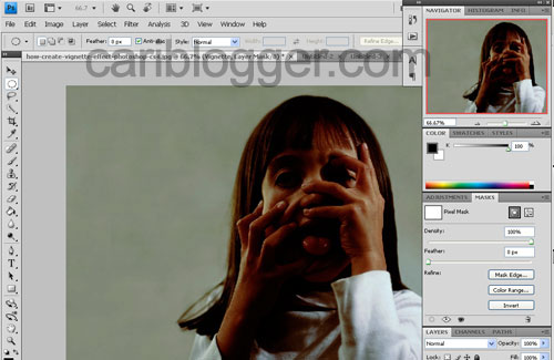 How to Create Vignette Effect in Photoshop - Step 4