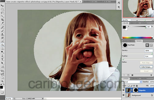 How to Create Vignette Effect in Photoshop - Step 6