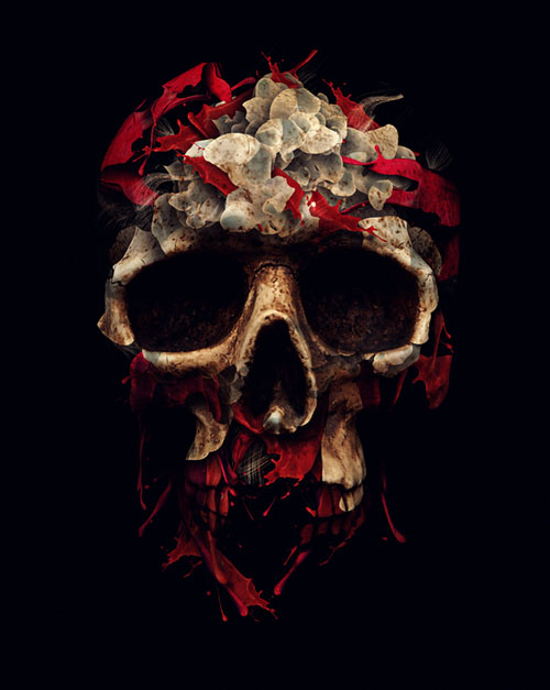 Amazing Illustrations by Alberto Seveso - The Blood Drains Down Like Devil's Rain