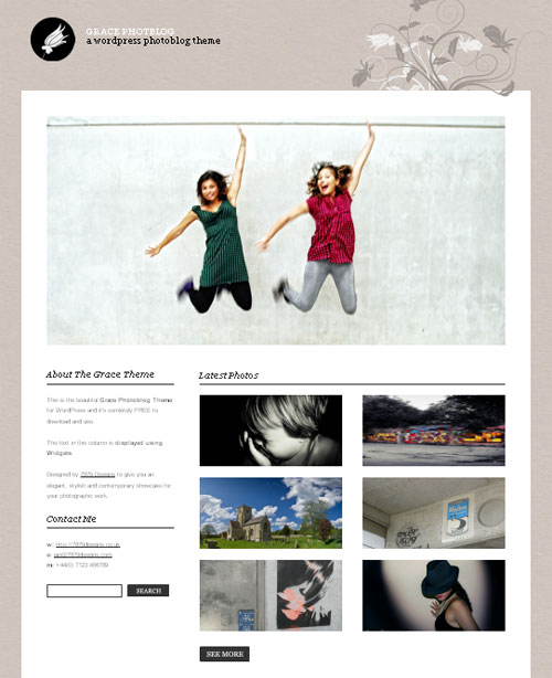 Most Beautiful WordPress Theme for Photographers - Grace Photoblog Theme