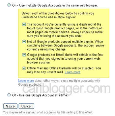 Enable Gmail Multiple Sign-in Feature