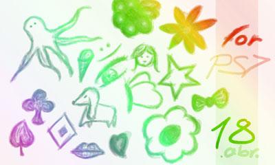 (Freebies) 20 Doodle Photoshop Brushes
